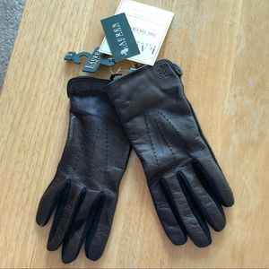 Ralph Lauren Touch Technology Leather Gloves NWT